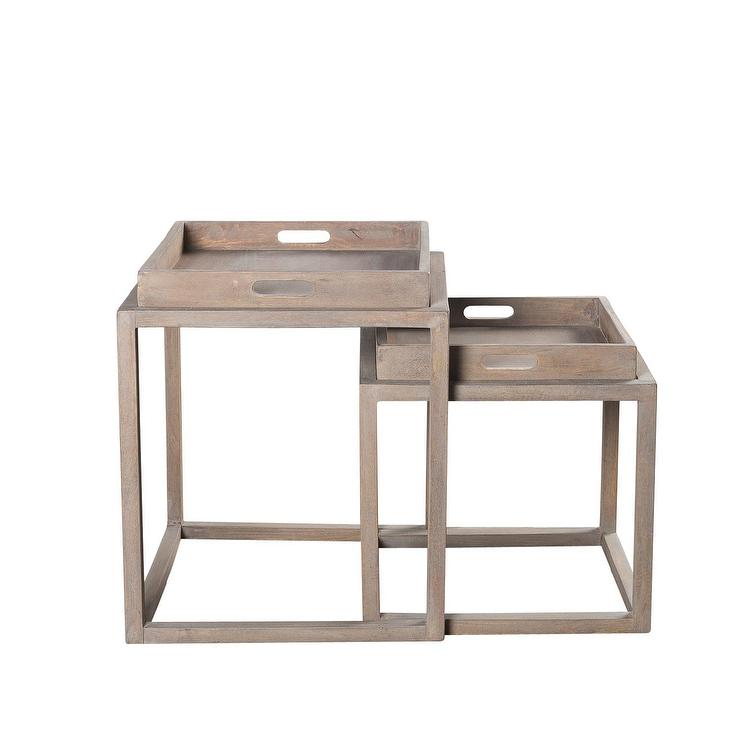 Nesting Snack Tables ~ Nealon nesting taupe tray tables