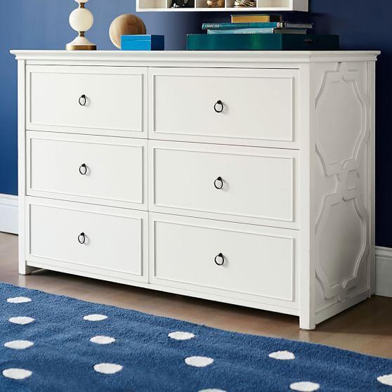 cupertino 3drawer white dresser