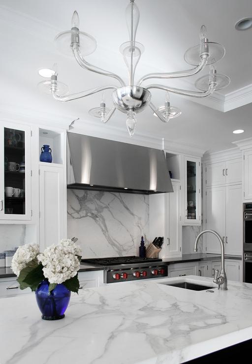 White Kitchen Espresso Island white kitchen cabinets with espresso island - transitional - kitchen