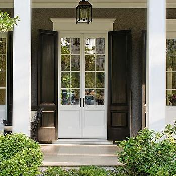 Covered Porch & Beadboard Doors Design Ideas