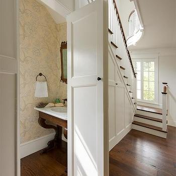 Under stairs powder room design ideas for Room design under stairs