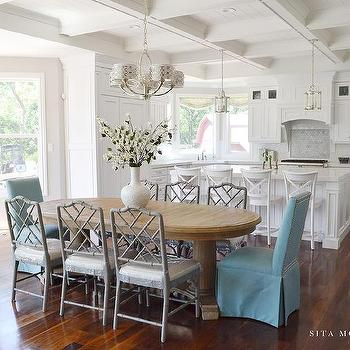 Pleated Skirted Dining Chairs - French - Dining Room