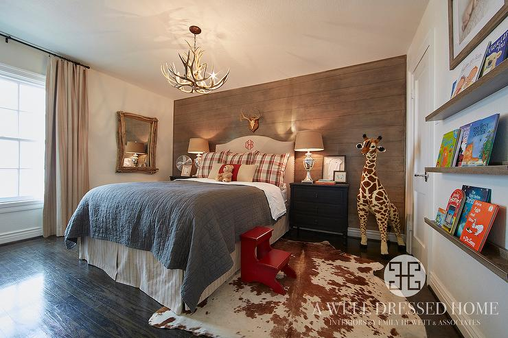 Kids Bedroom Accent Wall country cabin boys bedroom - country - bedroom