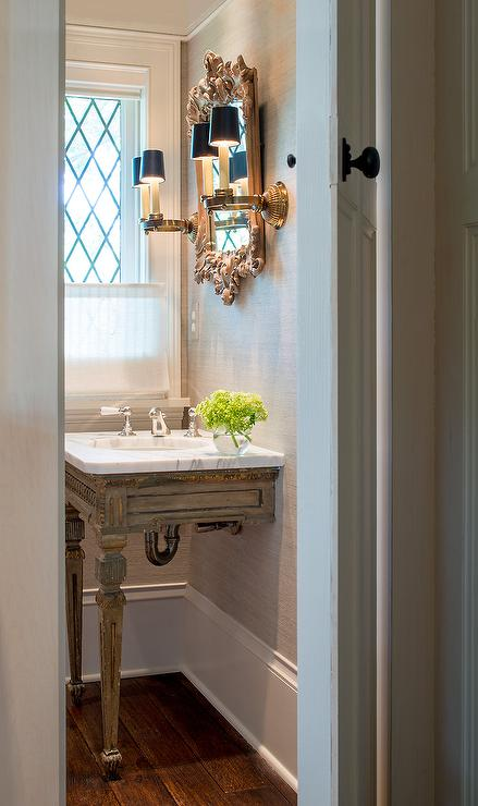 French Vanity With Gold Trim French Bathroom