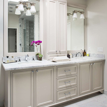 Light Gray Bath Vanity Cabinets