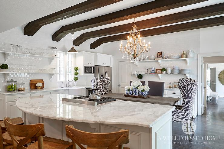 Calacatta Borghini Marble Countertops Transitional Kitchen