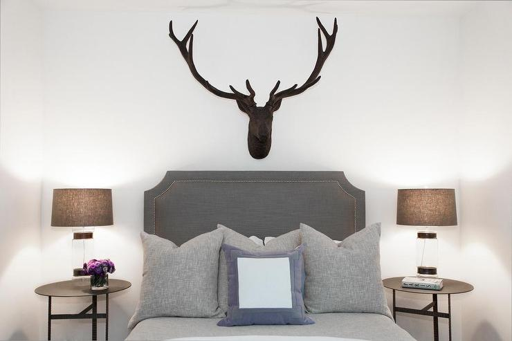 Faux stag head above bed design ideas view full size mozeypictures Gallery