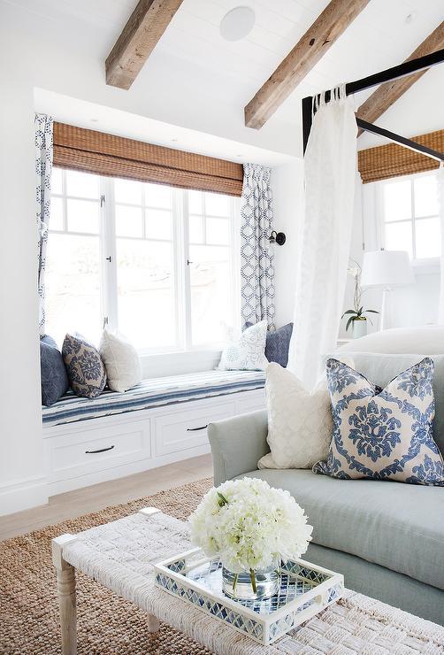 Cottage Bedroom Nook With Long Built In Bench Cottage Bedroom