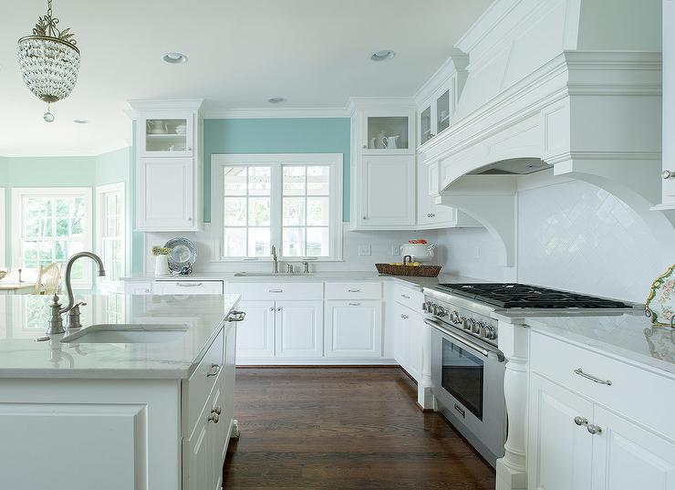 Turquoise Kitchen White Cabinets turquoise kitchen walls