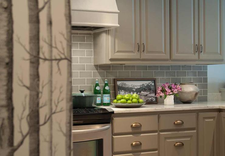 Taupe Kitchen Backsplash Transitional Kitchen Tish Key Interior