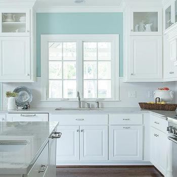 adorable white raised panel cabinet doors. Turquoise Kitchen Walls White Raised Panel Cabinets Design Ideas