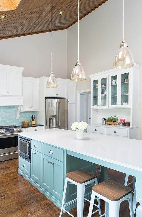 pendant lighting for sloped ceilings tiffany blue kitchen features a vaulted ceiling framing skylights accented with agreeable vaulted ceilings