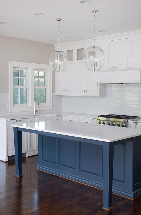 white kitchen cabinets navy island kitchen island overhang legs design ideas page 1 28856
