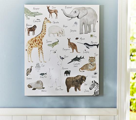 & Jenni Kayne Multicolor ABC Animal Wall Art
