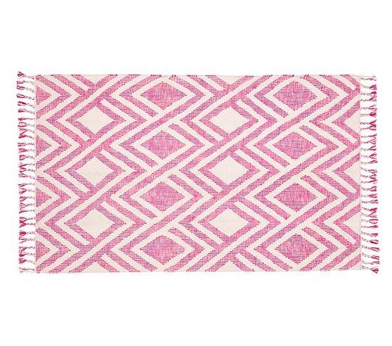Moroccan Dhurrie Pink/ Ivory Wool Rug (8' X 10