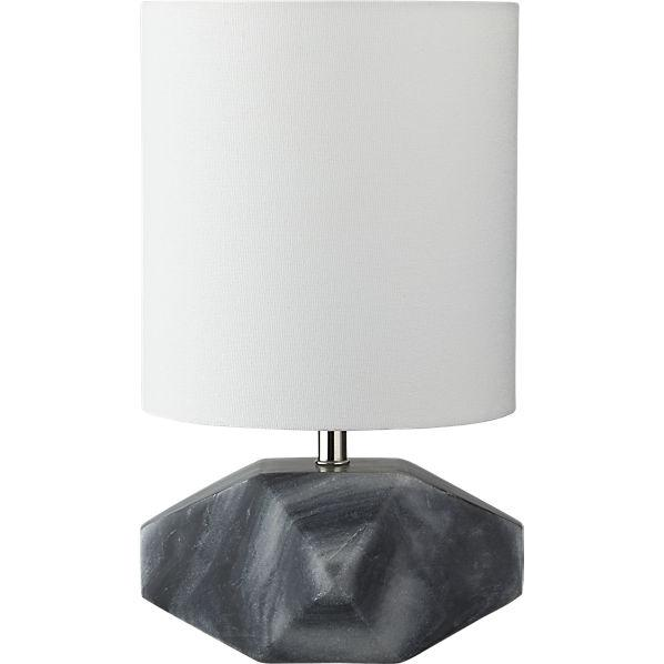 Chamfer Grey Marble Table Lamp