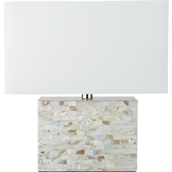 White shell table lamp aloadofball Images