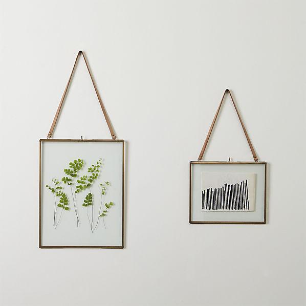 Brass Floating Picture Frames