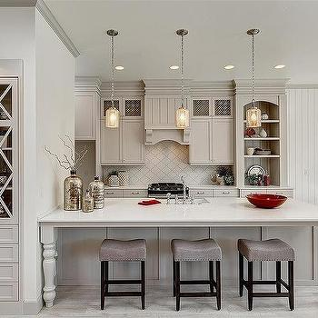 Kitchen with Arabesque Backsplash - Transitional - Kitchen