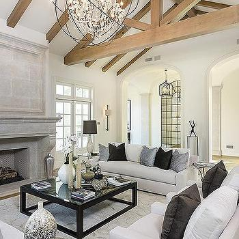 Living Room Vaulted Ceiling Design Ideas