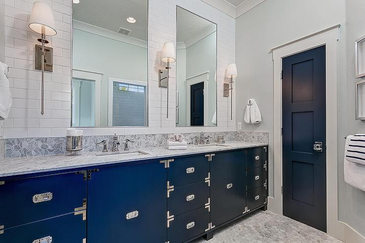 Attractive Blue Grey And White Bathroom Part   8: View Full Size. White And