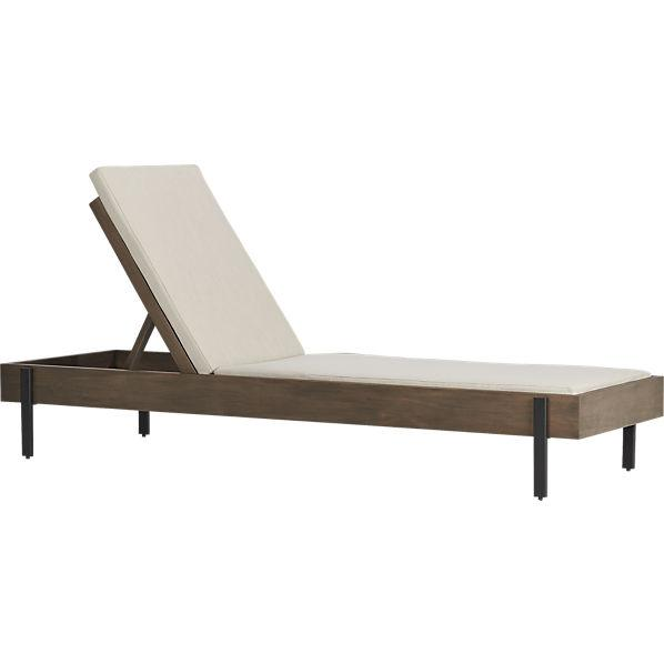 Horizon brown and white outdoor chaise lounge for Brown chaise lounge outdoor