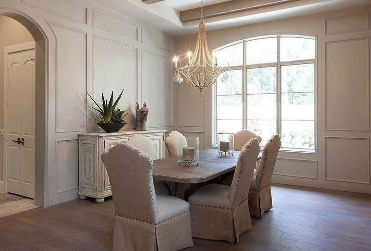 Charming Full Wall Wainscoted Dining Room View Full Size Part 8