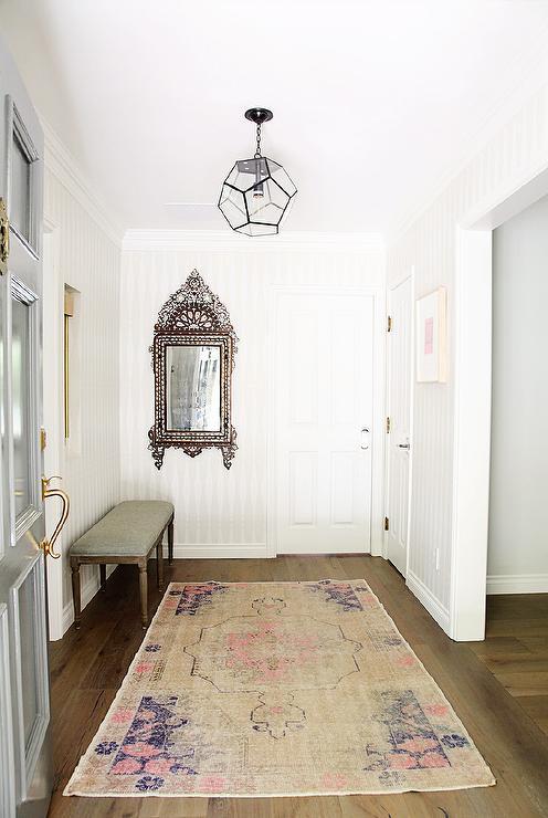 Rug In Foyer : Casa florentina louis xvi upholstered bench transitional