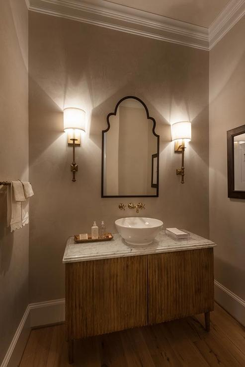 Gold And Black Bathroom Sconces Design Ideas