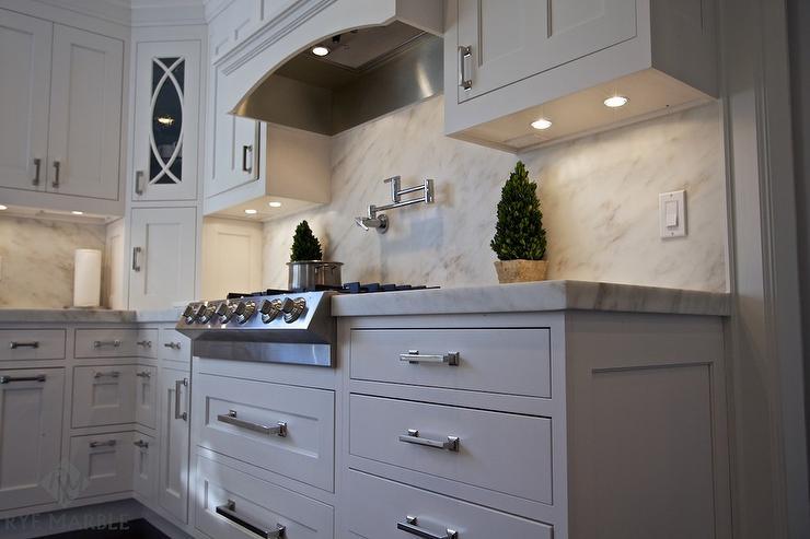 Marble Kitchen Backsplash imperial danby marble kitchen backsplash design ideas