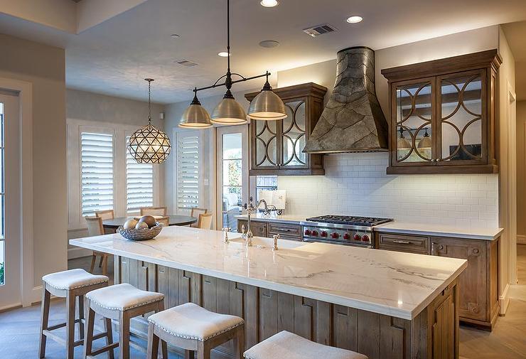 Eclipse Mirrored Kitchen Cabinets Transitional Kitchen