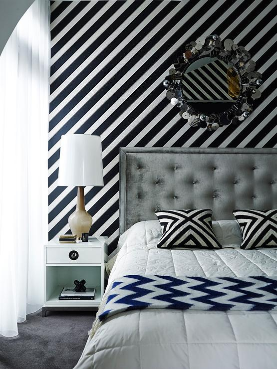 Jonathan adler templeton bed cottage bedroom for Zig zag bedroom ideas