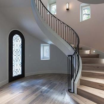 Iron And Wood Wining Staircase