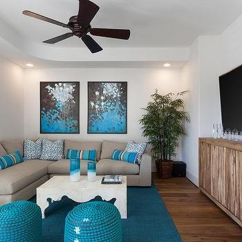 Gray And Turquoise Blue Living Rooms