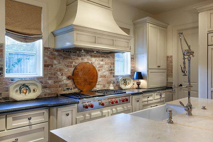 red brick kitchen backsplash cottage kitchen red kitchen backsplash tile