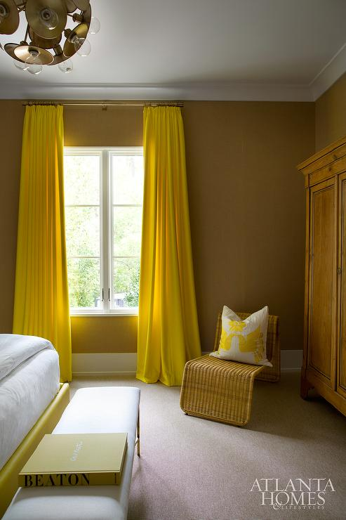 Yellow Bedroom Curtains - Contemporary - Bedroom