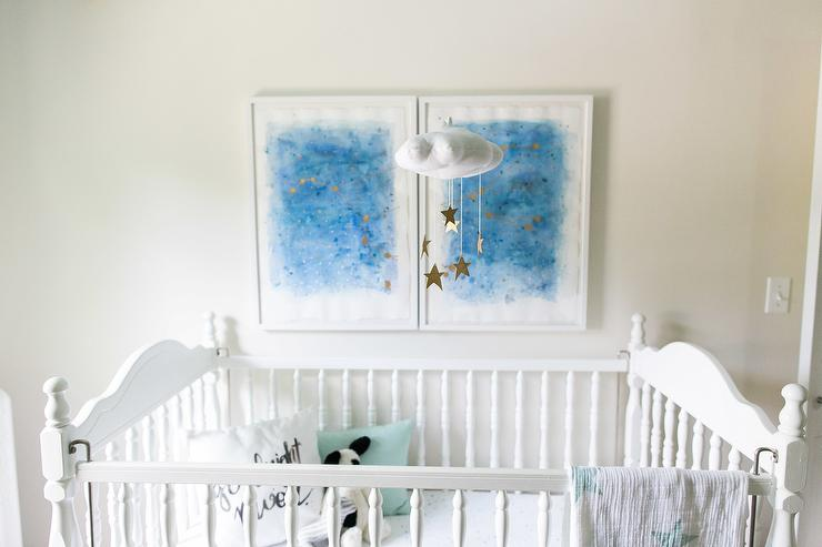 Diy Starry Nursery Ceiling Transitional Nursery Behr
