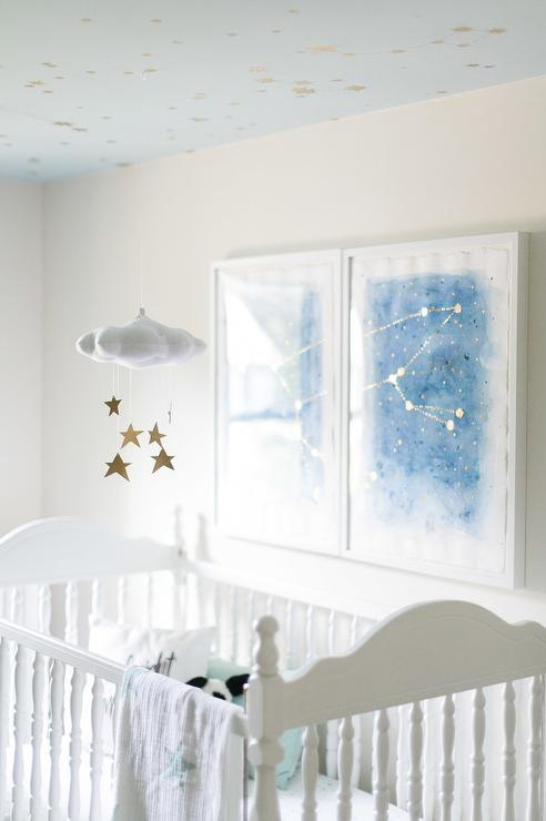 Baby Jives Star Cloud Mobile In Gold Transitional