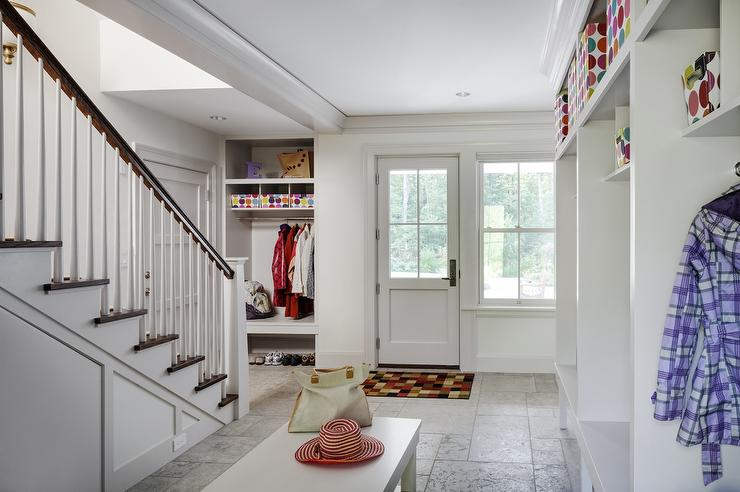 Basement Mudroom Design Transitional Laundry Room