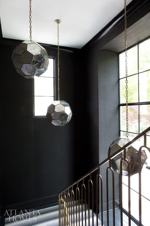 Staggered Staircase Lighting Contemporary Entrance Foyer
