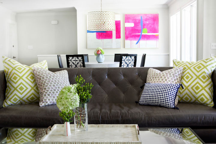 pillows for brown leather sofa photos hgtv thesofa