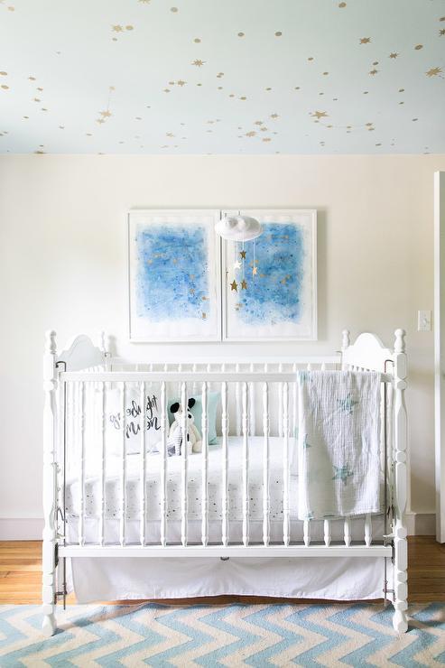 Diy Starry Nursery Ceiling Transitional Nursery Behr