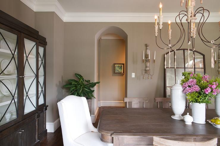 Taupe Dining Room Design