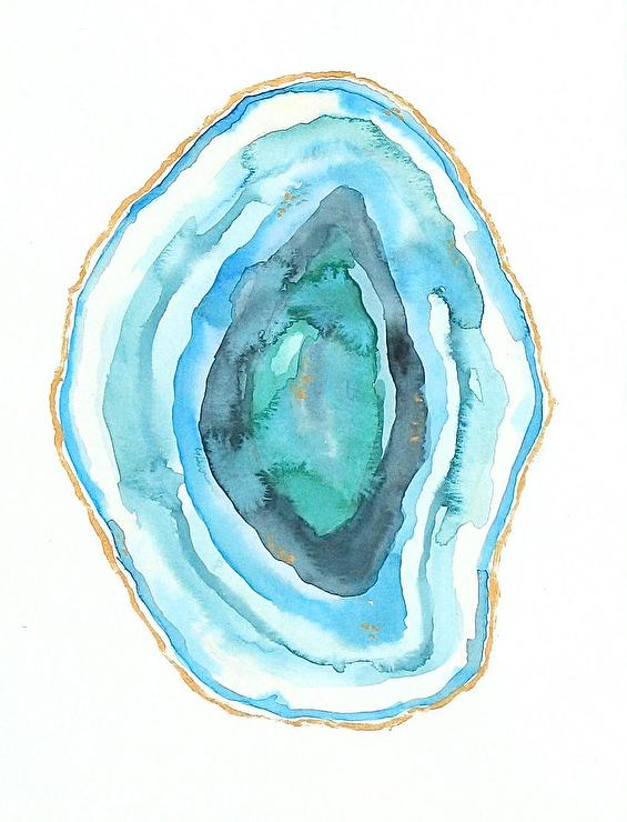 Blue Agate Painting