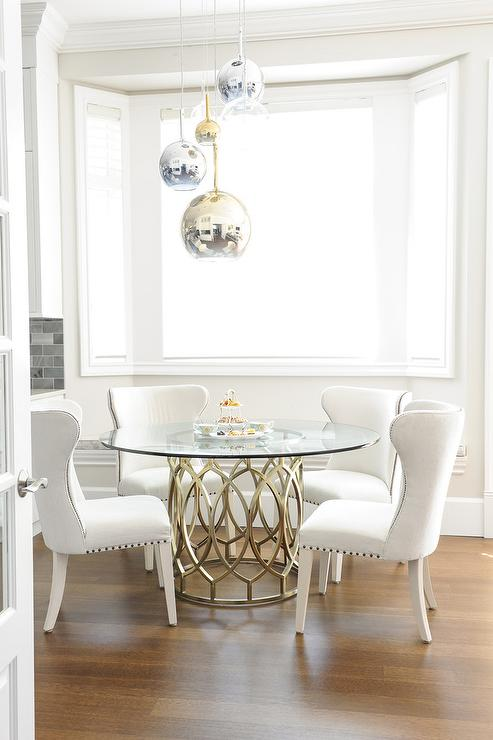 Staggered Dining Room Pendants Transitional Dining Room