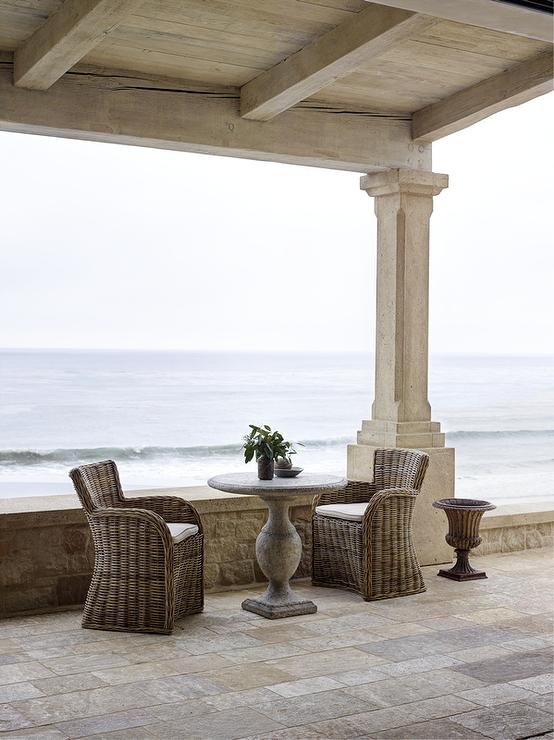 french terrace design - french  patio