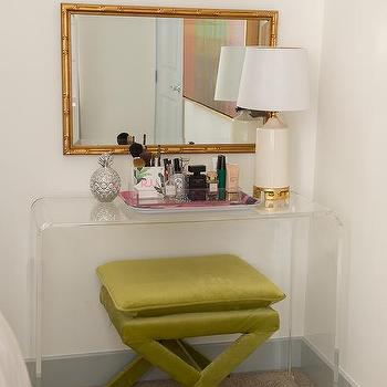 search clear acrylic make up vanity chair