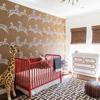 Brown Scalamandre Zebra Wallpaper Design Ideas