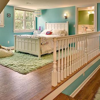 Cream Shag Girl Room Rug Design Ideas