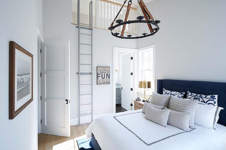 Navy Bedroom with Loft Space